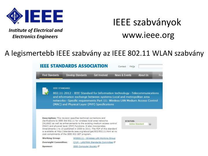 IEEE szabványok