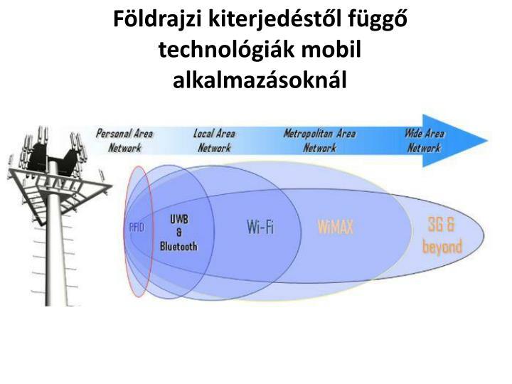 Földrajzi kiterjedéstől függő technológiák mobil alkalmazásoknál