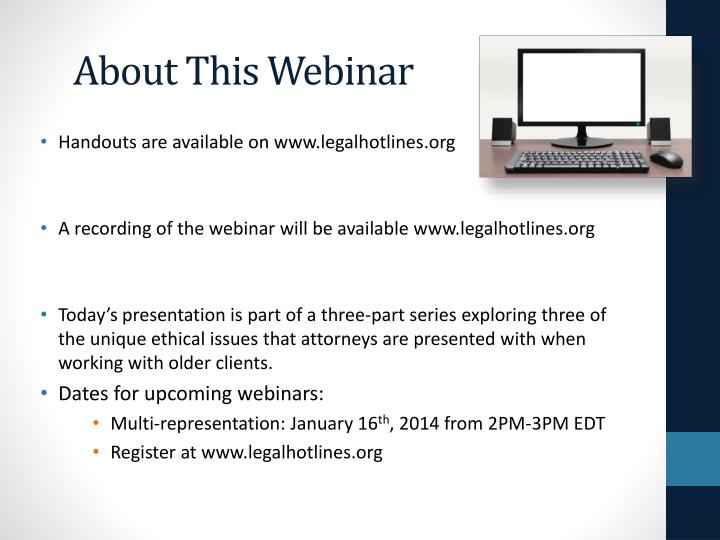 About This Webinar