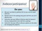 audience participation5