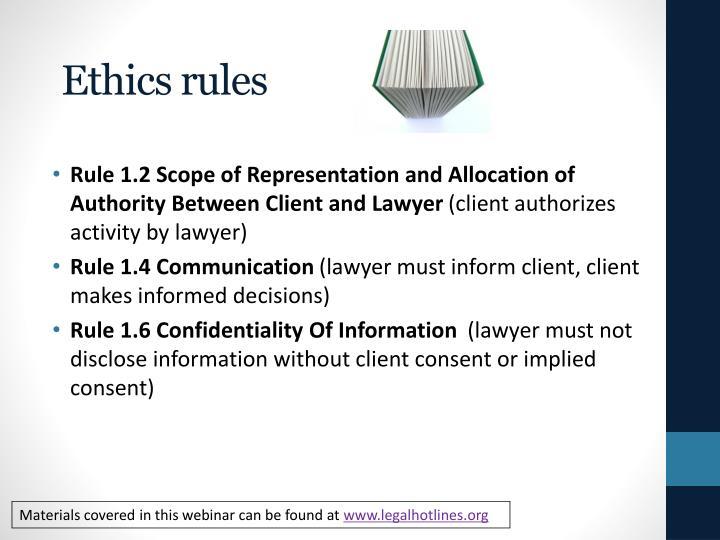 Ethics rules