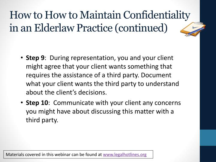How to How to Maintain Confidentiality in an