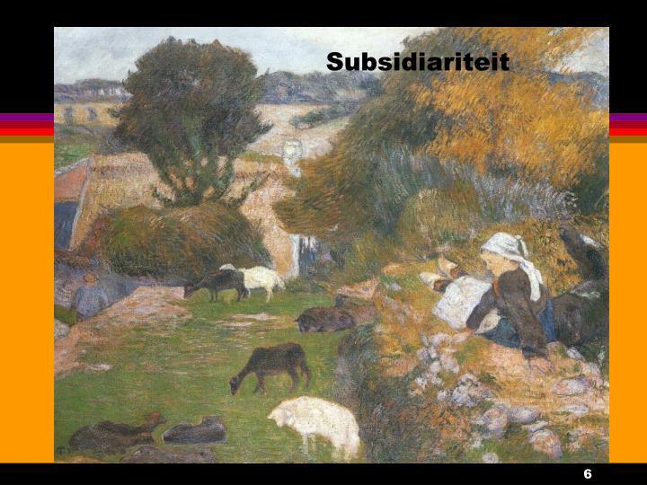 Subsidiariteit