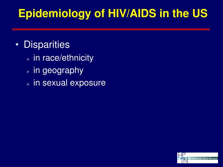 Epidemiology of HIV/AIDS in the US