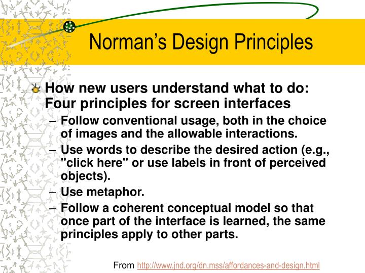 Norman's Design Principles
