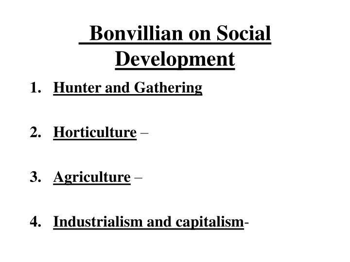 Bonvillian on Social Development