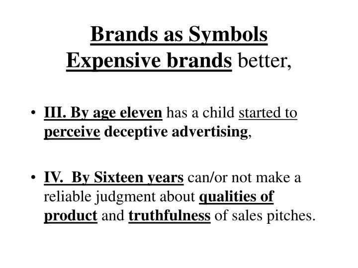 Brands as Symbols