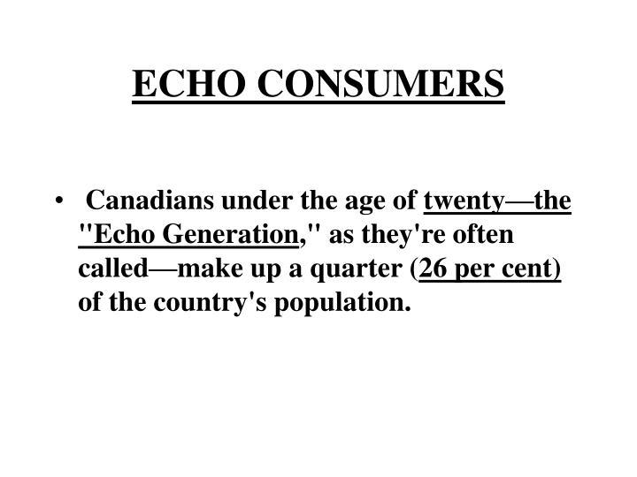 ECHO CONSUMERS