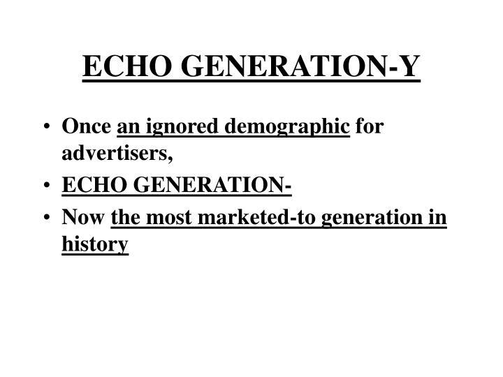 ECHO GENERATION-Y