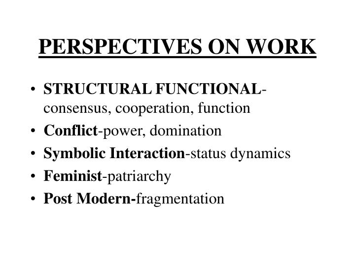 Perspectives on work
