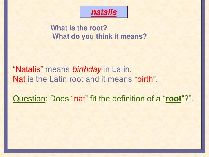 What is the root?