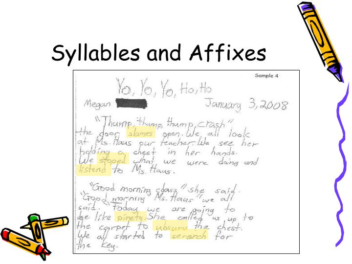 Syllables and Affixes