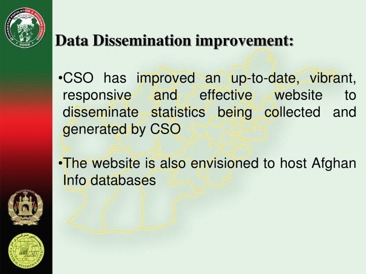 Data Dissemination improvement: