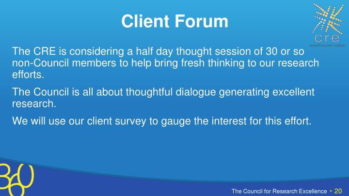 Client Forum