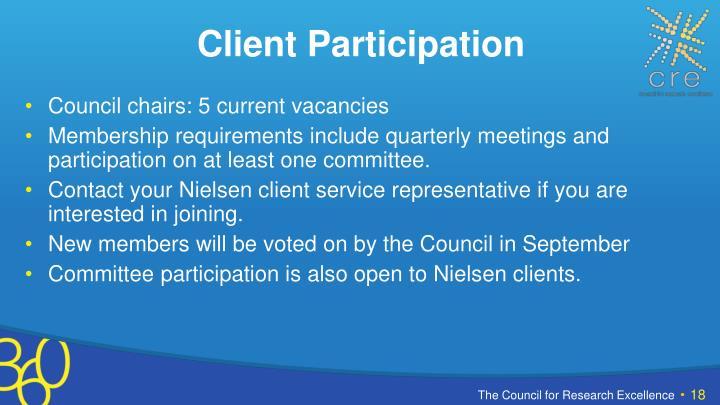 Client Participation