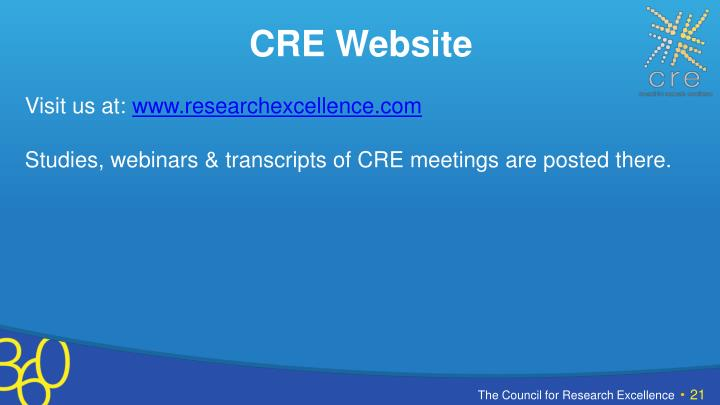 CRE Website