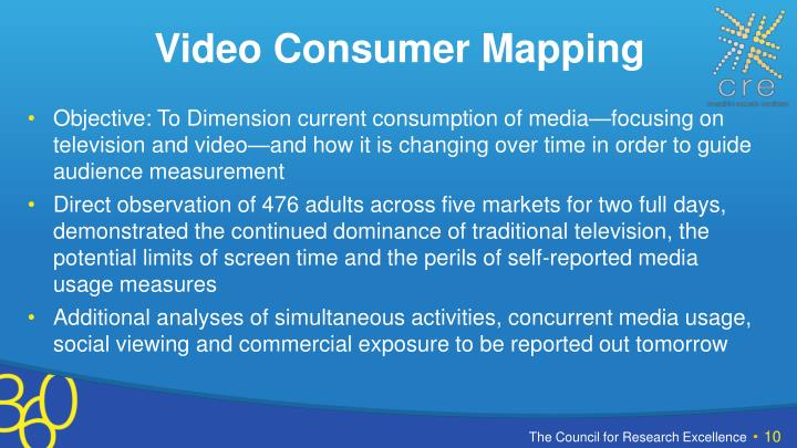 Video Consumer Mapping