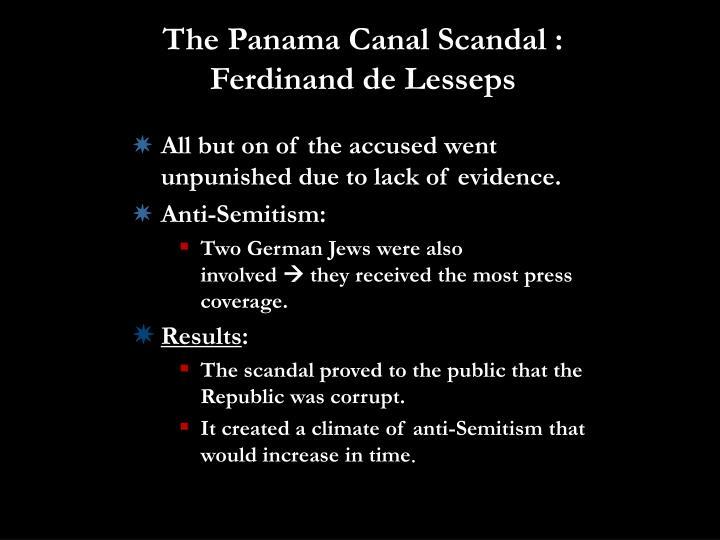 The Panama Canal Scandal : Ferdinand de Lesseps