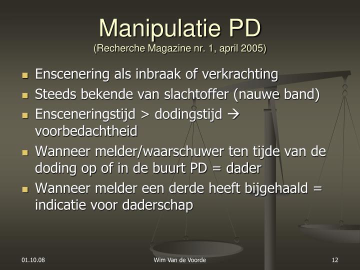 Manipulatie PD