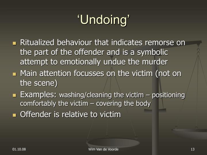 'Undoing'
