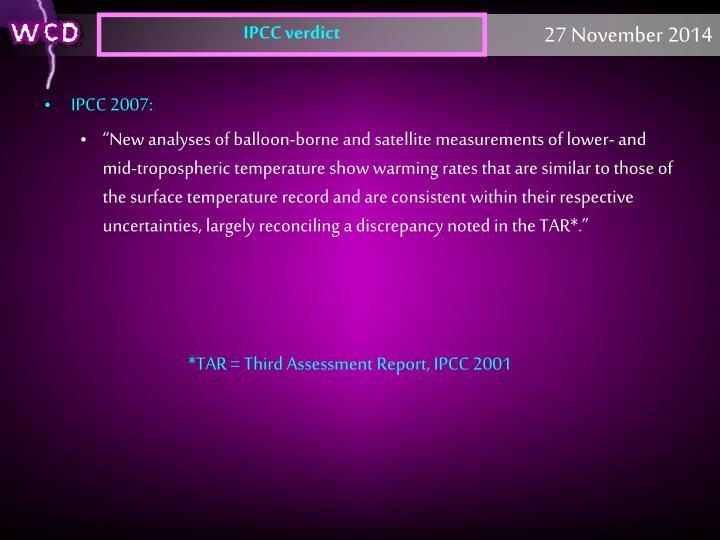 IPCC verdict