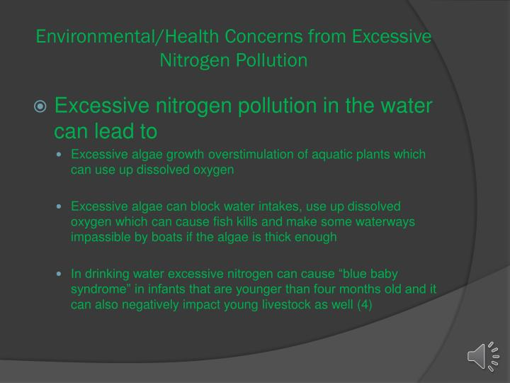 Environmental/Health Concerns from Excessive Nitrogen Pollution