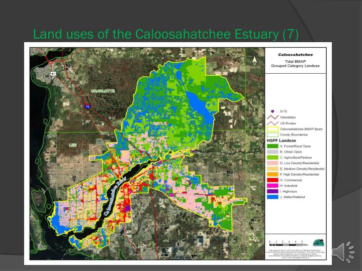Land uses of the Caloosahatchee Estuary (7)
