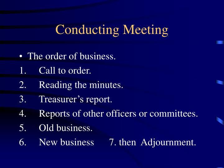Conducting Meeting
