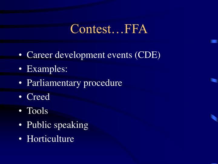 Contest…FFA