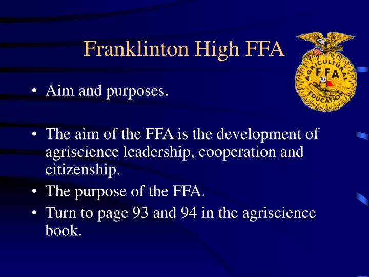 Franklinton High FFA