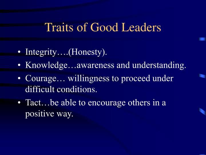 Traits of Good Leaders