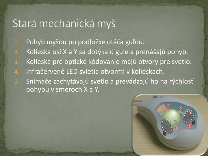 Stará mechanická myš