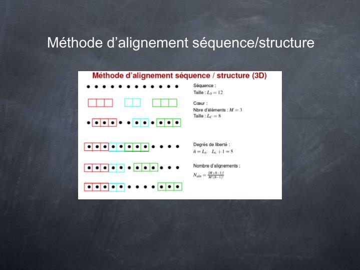 Méthode d'alignement séquence/structure