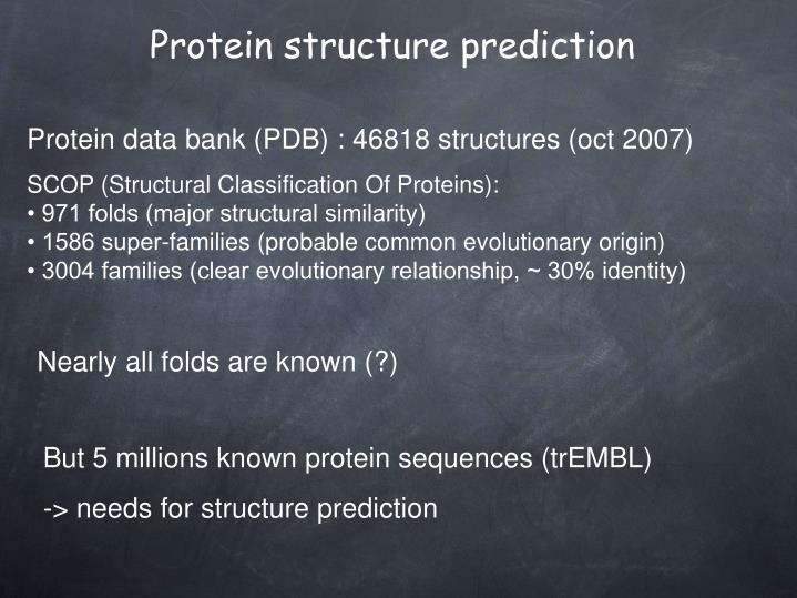 Protein data bank (PDB) : 46818 structures (oct 2007)