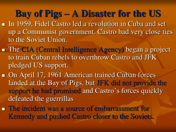 Bay of Pigs – A Disaster for the US