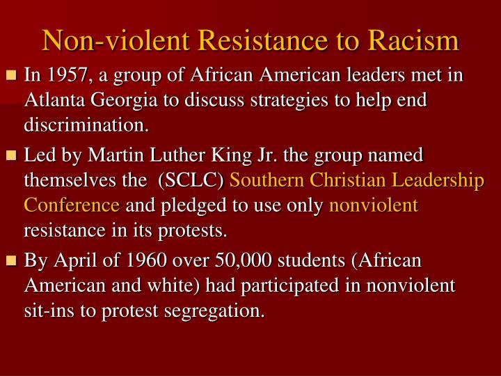 Non-violent Resistance to Racism