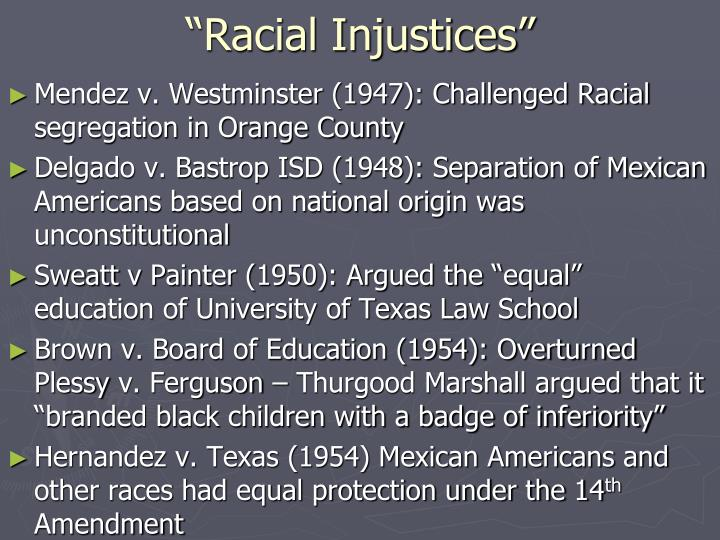 """Racial Injustices"""