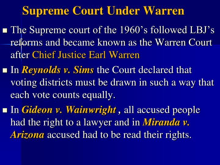 Supreme Court Under Warren