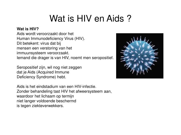 Wat is hiv en aids