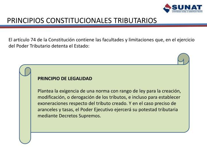 PRINCIPIOS CONSTITUCIONALES TRIBUTARIOS