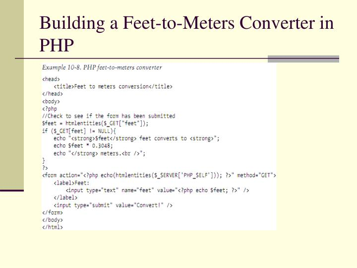Building a Feet-to-Meters Converter in PHP