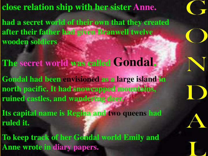 close relation ship with her sister