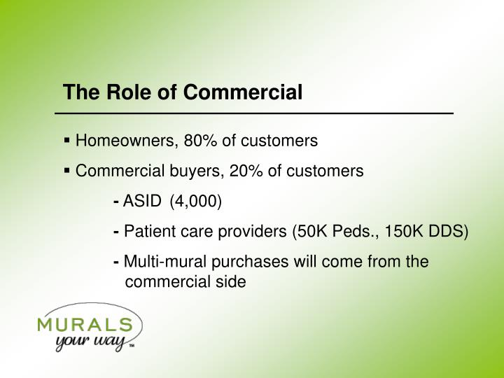 The Role of Commercial