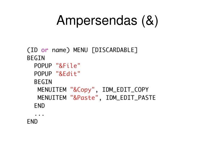 Ampersendas (&)