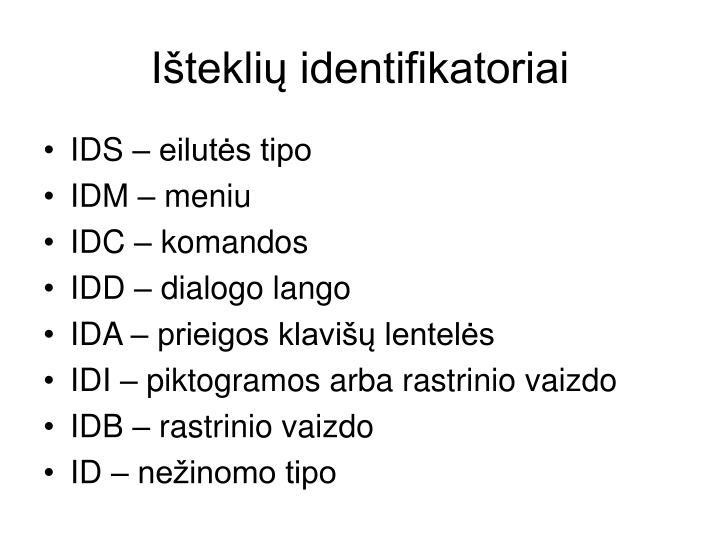 Išteklių identifikatoriai