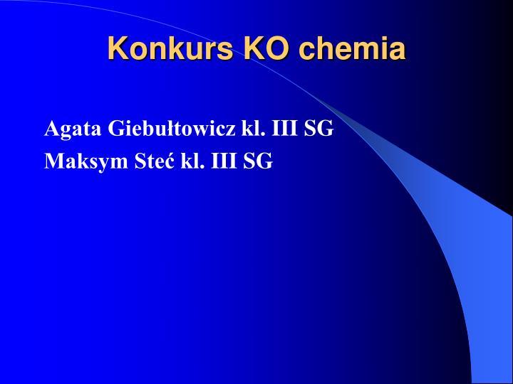 Konkurs KO chemia