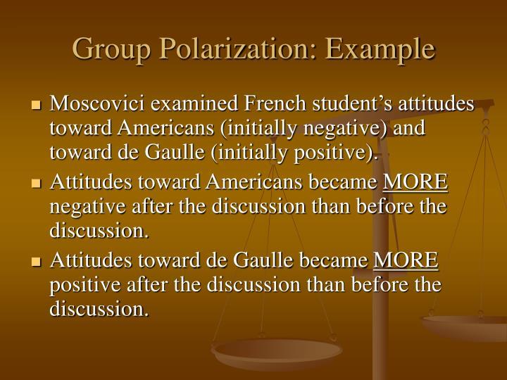 group polarisation