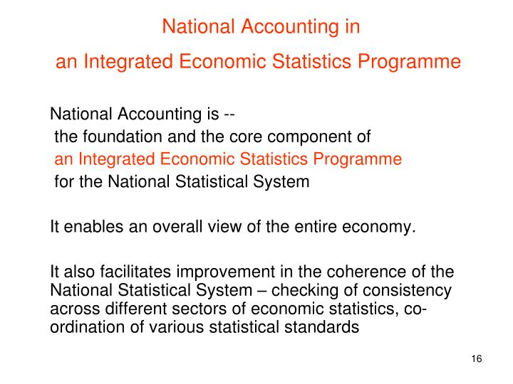 National Accounting in