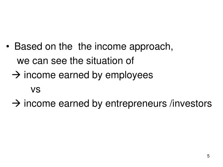 Based on the  the income approach,