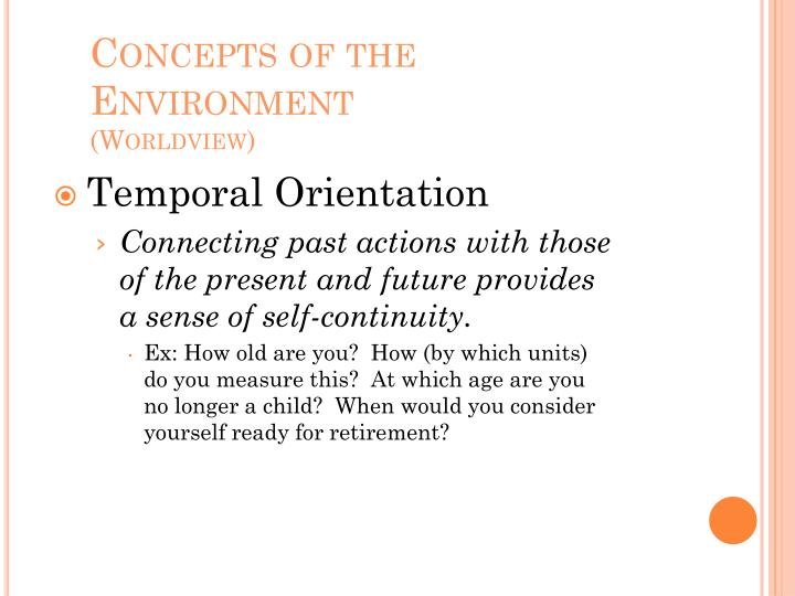 Concepts of the Environment